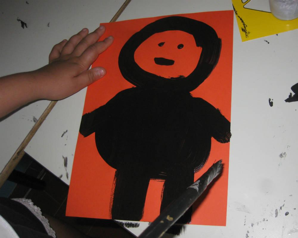 Disegno Di Un Bambino : Disegno numero 4 di un bambino corvo crionda
